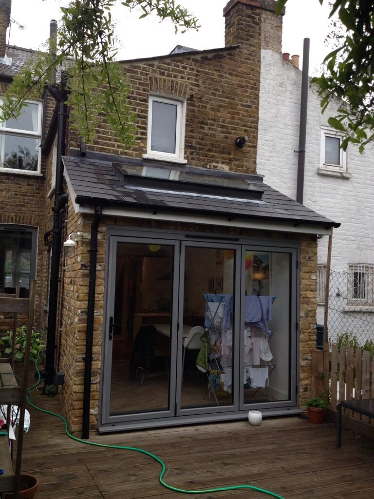 Essan k planning on twitter modest lean to extension to for Terrace extension