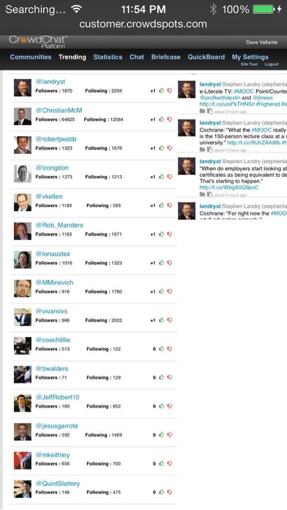 Here are the top 15 CIOs tweeting in the @servicenow community #know14 #knowledge14 http://t.co/dijDe66obT
