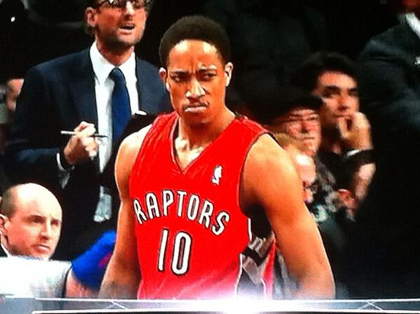 an even better look MT @DocNaismith: Stank face is alive and well in Brooklyn. MT @TalkingRaptors: http://t.co/ZlCAvcCkTM