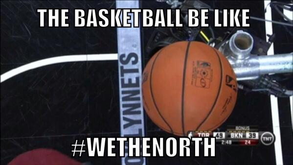 Even the basketball #WeTheNorth #RTZ http://t.co/FYypSxigl1