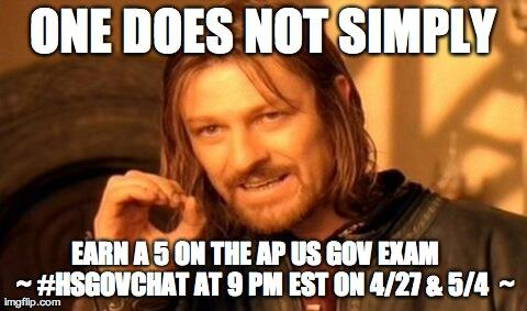 The first of two #hsgovchat sessions on the #APGov Exam kicks off in ten minutes. Open to all students and teachers! http://t.co/GhQPNBMVTA
