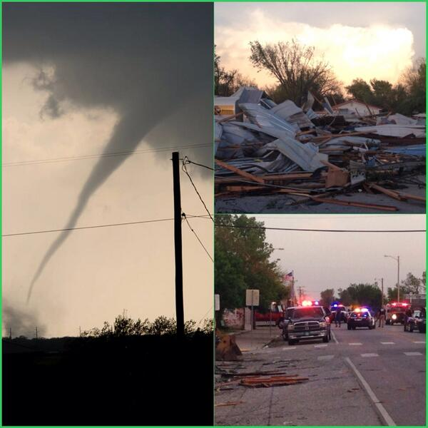 #Tornado takes lives of 2 #Oklahomans in #Quapaw. Photos by: David Summerlin of #Joplin and @NewsOn6's Tony Russell http://t.co/rshYlAi6d4