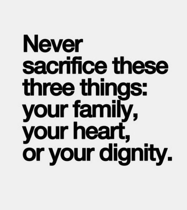 Never sacrifice these three things... http://t.co/iu57jYfKqV