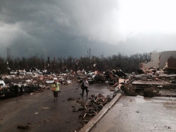 Saw the Mayflower, Arkansas tornado today. Mass damage to the town. Pray/send help in coming days. #ArkansasStrong http://t.co/32P77rKrcF