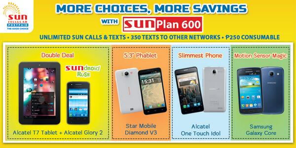 Sun cellular on twitter sun postpaid gives you more for Sun mobile plan