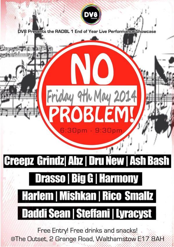 My students have their end of year show on Friday 9th May (6:30pm-9:30pm) @dv8training #NOPROBLEM #RADBL1 #VIBES http://t.co/jHteq3op0s
