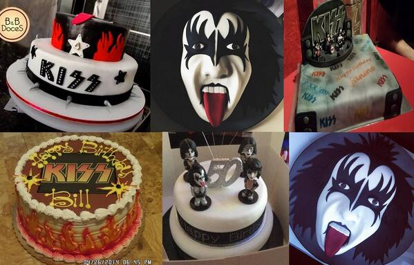 Kiss On Twitter Check Out These Great Kiss Birthday Cakes Thanks