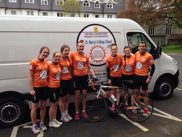 "Joe Mallon Motors on Twitter: ""Well done to St. Mary's College Naas on their cycle for @CASuicide!!! It was well supported and deservedly so! ..."