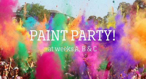 SUMMER ANNOUNCEMENT: We're throwing a giant dry paint party at weeks A, B and C!! http://t.co/L4yATXAxIL