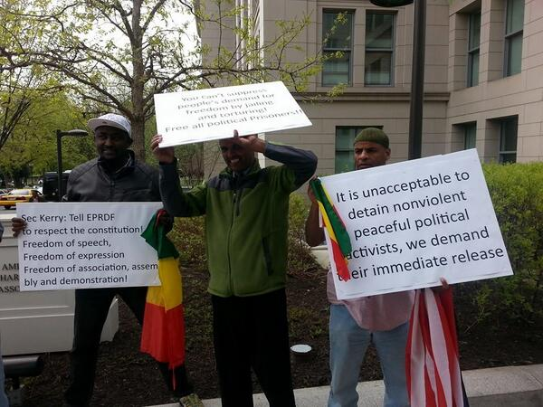 "MT: Demonstration in DC against Ethiopian regime ""@abdurehimderesa: @fisseha505 #FreeZone9Bloggers @zerecon @Soli_GM http://t.co/VQkegKRm5d"""