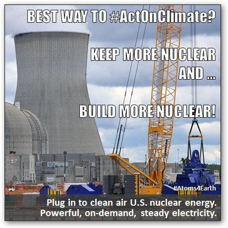 What's the best way to #ActOnClimate? Keep more nuclear energy and build more #nuclearenergy! @C2ES_org http://t.co/gJlnklNbQw