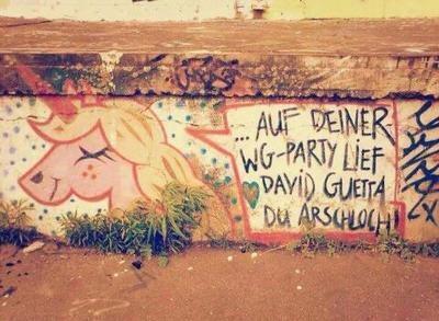 Lary On Twitter Auf Deiner Wg Party Lief David Guetta Du Arsch
