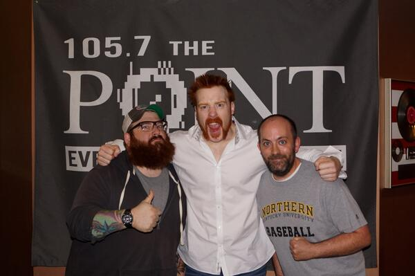 Hanging out with @WWESheamus was awesome this morning!  Stoked for #WWERAW http://t.co/FOn3Ls2KSI