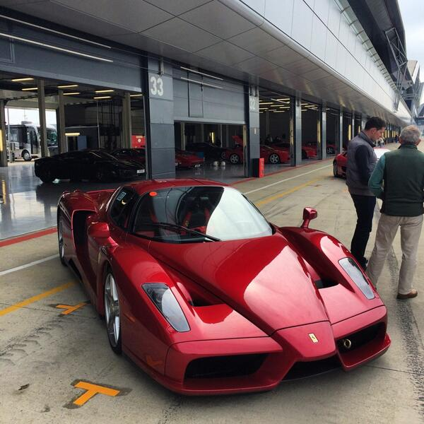 Sy On Twitter Ferrari Enzo In A Dark Red Colour Looks Great In The Metal Think The Owner Also Has A P1 Http T Co Aggu7ftyax