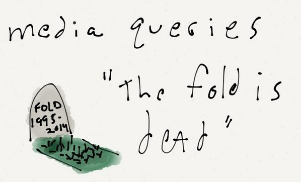 """.@lukew at #aeabos - """"The fold is dead"""" http://t.co/cWWXRm6chQ"""