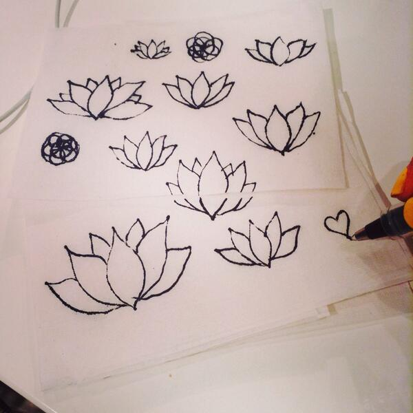 On Twitter Napkindoodles Cant Stop Drawing Lotus Flowersn