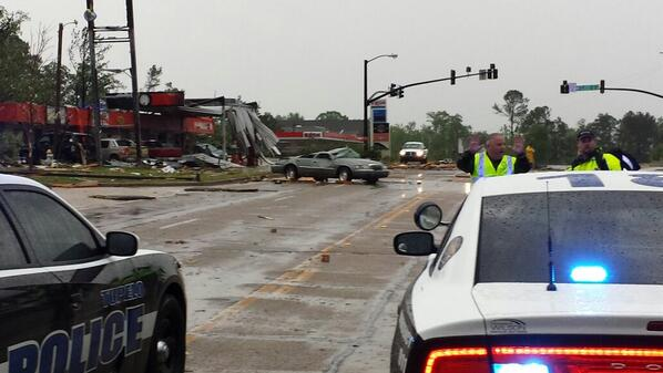 Car rolled by tornado in tupelo http://t.co/2FdCG0lEAa