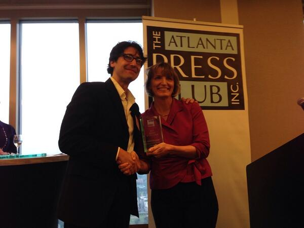 Congrats to our own @aragusea on winning @Atlpressclub Award of Excellence for radio reporting. @gpbnews @mercerccj http://t.co/KjYA3akvCE