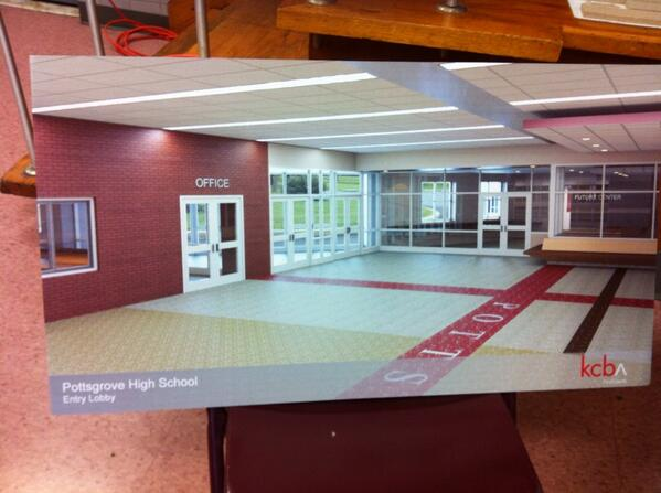 Rendering of new entry to #Pottsgrove HS under new project proposal. http://t.co/99IxwtoLdB