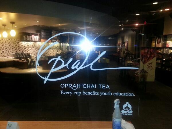@Oprah @OWNTV @OWNAmbassadors   look at what just went up at my local @Starbucks! I loooooooove it! #OprahChai http://t.co/eJvj5ySi8r