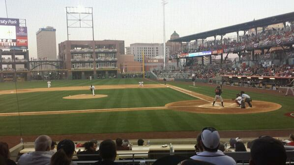 Play Ball! #Chihuahuas!  First Pitch! http://t.co/sgU9iZ1ft8