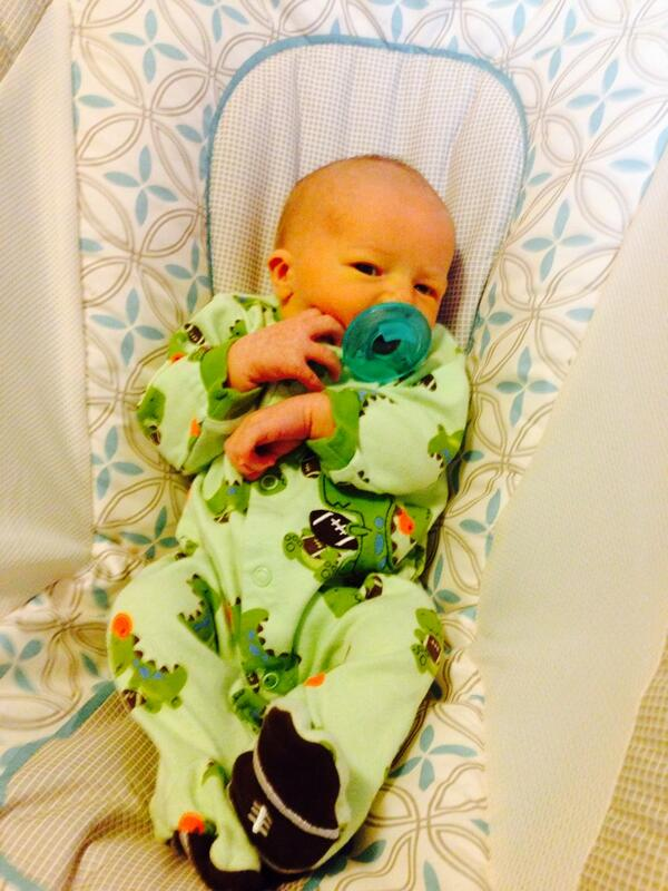 @hechternacht thanks, everyone is doing great! This guy already stole my heart! #kinderchat http://t.co/g8m9kpwcLf