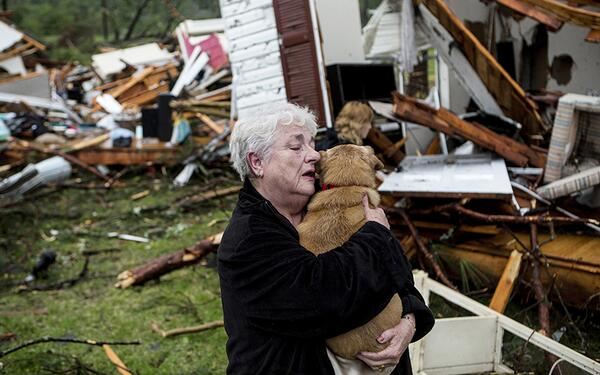 Woman finds her dog alive after returning to her tornado-ravaged home in Tupelo, Miss - @NBCNewsPictures http://t.co/n1qx21CC5S