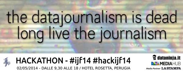 Le track dell'hackathon oro sono otto! #ijf14 #hackijf14 #dataninja @DataMediaHub @la_stampa  http://t.co/eQBMRVN7lu http://t.co/lJRj2dUlIw