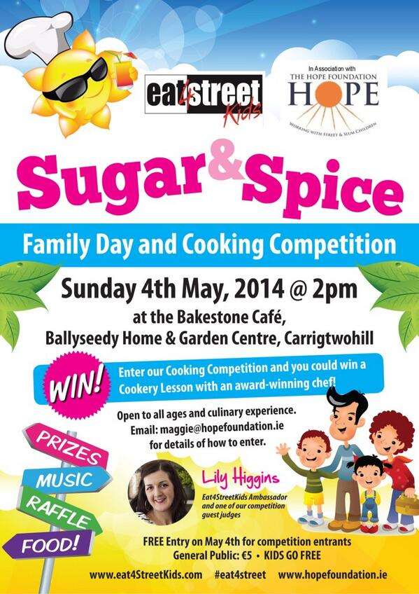 Looking forward to this Sunday! Family fun day & cookery competition @_Bakestone @HopeFoundation #cork #eat4street http://t.co/MvRap792e8