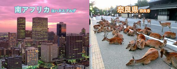 奈良と南アフリカの比較画像です。ご確認ください。 http://t.co/LyXd5GYU0R