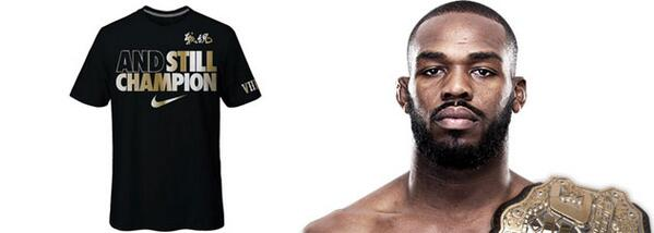 [T-shirt] And the winner by unanimous decision and still champion : @JonnyBones !!! http://www.globe-mma.com/t-shirt-nike-jon-jones-and-still-champion/… @Nike