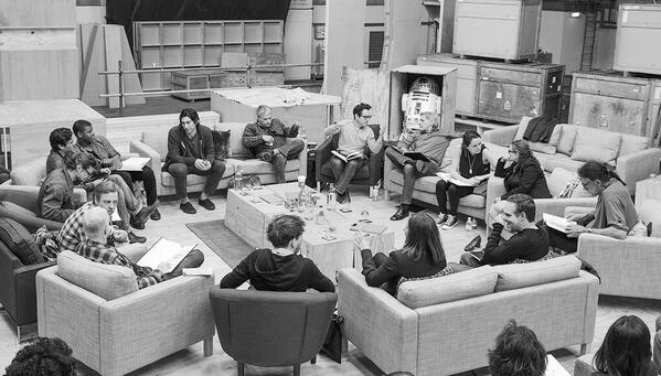 I think the real winner in this Star Wars VII cast photo is the IKEA KARLSTAD chairs and sofa line. http://t.co/qrOG23Ltj2