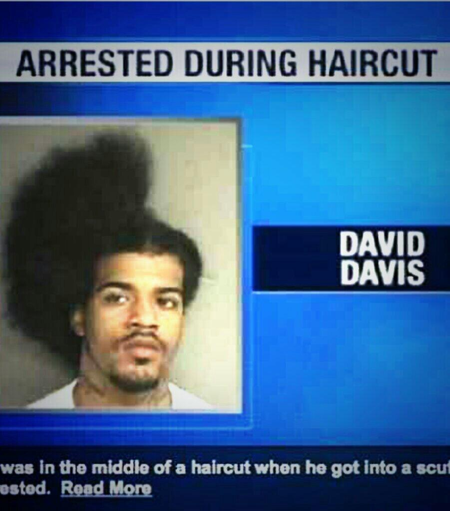 Weird Crimes On Twitter David Davis Was In The Middle Of A Haircut