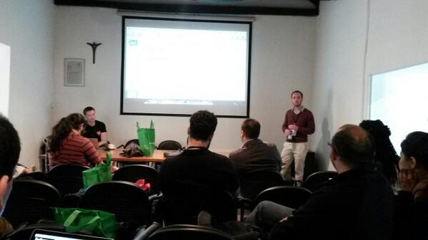 Discussing self-hosted api  vs central hosted api #popluscon #fixmystreet #greenroom http://t.co/ktggPHTKjA