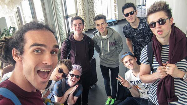 Photo of Troye Sivan & his friend celebrity  Marcus Butler -