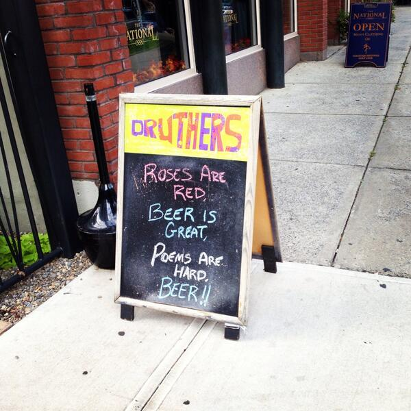 @WSJNY @WSJ #sidewalksign at Druthers in Saratoga Springs http://t.co/I8LCj7pEcN