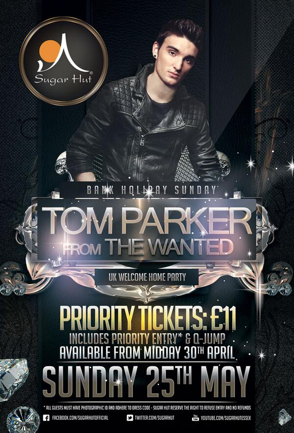We have 200 Pre Sale Queue Jump tickets available for @TomTheWanted on May 25th Available from 12pm tomorrow!!! http://t.co/QfDLHPzUym