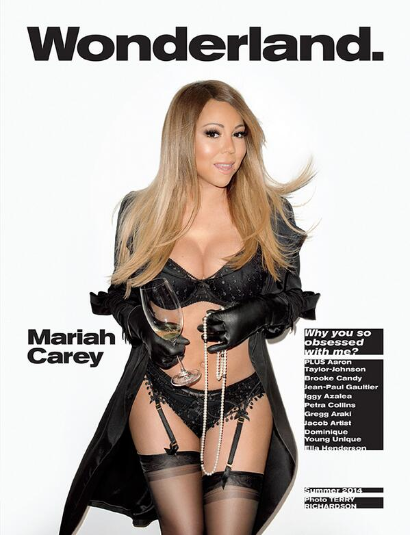 Mariah Carey Covers Wonderland Magazine In Lingerie And Pearls