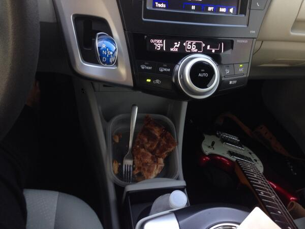 Costco apple pie and Madeleine (@fender) are my passengers for this drive http://t.co/7xfdAk61nv