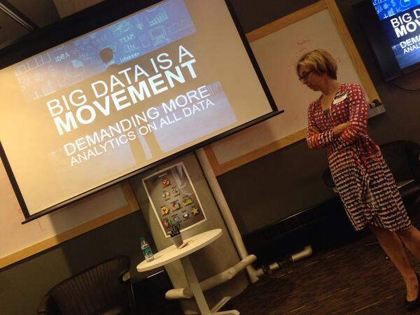 """Big Data is a Movement"" -@Teradata's Jodie Thellin Skyberg http://t.co/cM3R81YCaA"