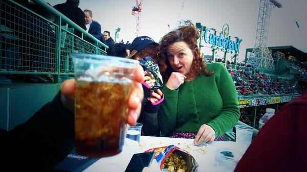 #teamlumia at Fenway w @pistachio http://t.co/o9UAFjJHA7