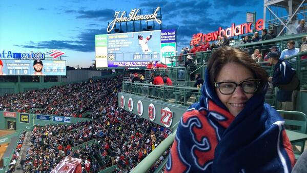 Red Sox blanket! @marketingprofs http://t.co/9yb5OIk009