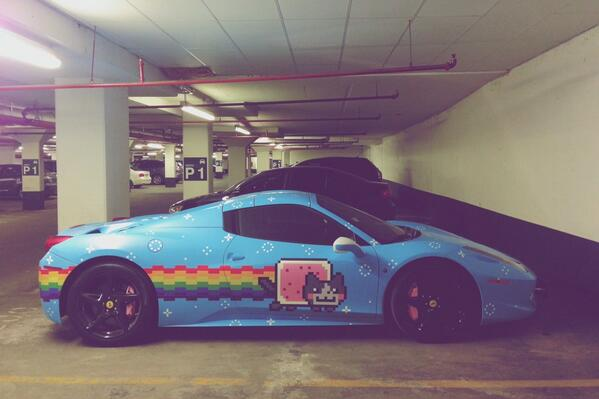 If you have never been to Toronto, here's the essence: Nyan Cat Ferrari http://t.co/ukGcQlFW6i