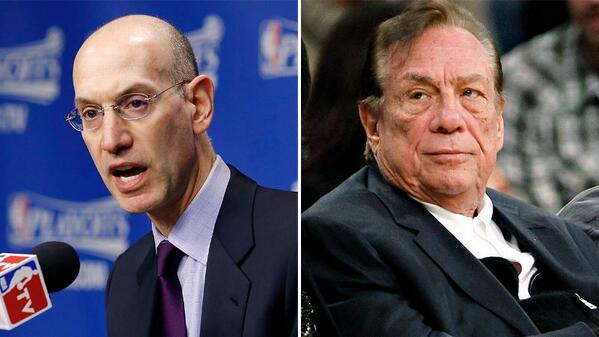 Adam Silver announces lifetime ban, $2.5M fine for Clippers owner Donald Sterling.   http://t.co/aXFROelUf8 http://t.co/SBLtN9WV9i