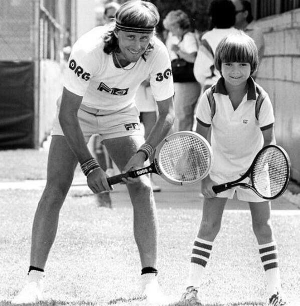 Borg & very young Agassi. Best #tennis photo I've seen in a while http://t.co/8syqDz0aDt