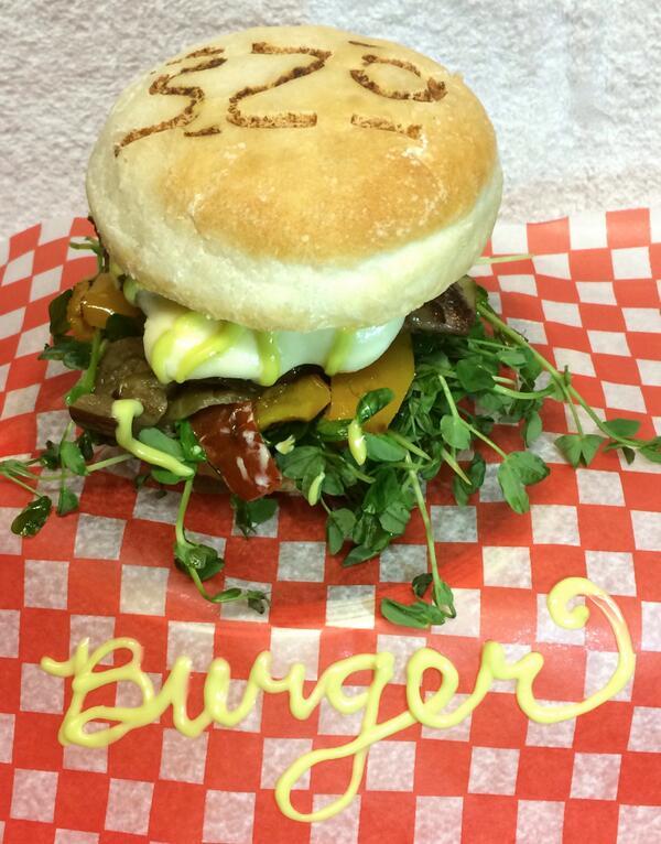 "Sneak peek of our @YYCBurgerWeek ""420""Burger, 4oz AB beef, roasted Italian veggies, bocconcini, HEMP aioli + sprouts! http://t.co/v8yazciXP8"