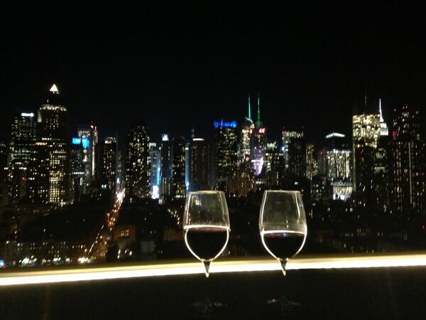 Wine with a cosmopolitan view in #nyc #NYTFMex http://t.co/WD8hAf1Rs6