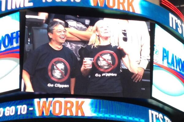 There it is. RT @isaaclowenkron On the scoreboard just now. #WeAreOne #Clippers http://t.co/GXdnBcZg64