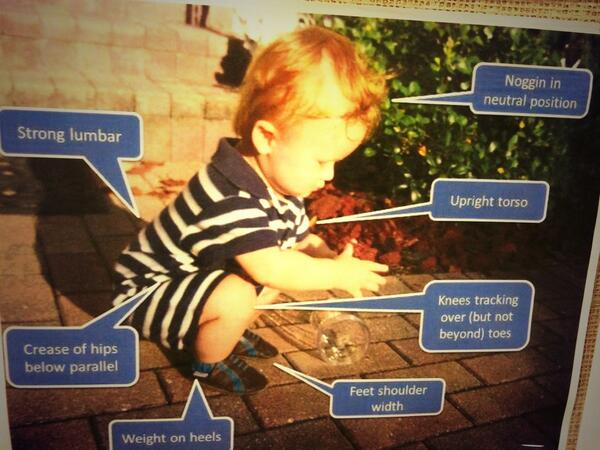 How to lift correctly (aka just ask a baby)... http://t.co/ozbQIUdkZ4