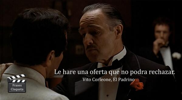Frases Claqueta On Twitter Vito Corleone El Padrino Http